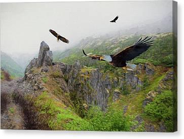 Alaskan Eagles Canvas Print