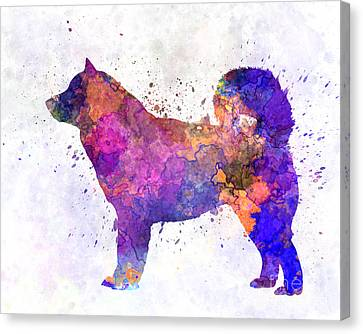 Malamute Canvas Print - Alaskan Malamute 01 In Watercolor by Pablo Romero