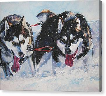 Malamute Canvas Print - Alaskan Malamute Strong And Steady by Lee Ann Shepard