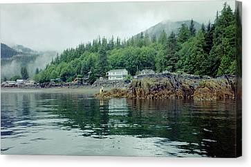 Canvas Print featuring the photograph Alaskan Village 2 by Judyann Matthews