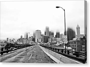 Alaskan Way Viaduct Downtown Seattle Canvas Print