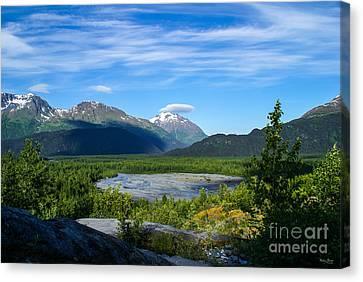 Alaska's Exit Glacier Valley Canvas Print by Jennifer White