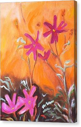 Canvas Print featuring the painting Alba Daisies by Winsome Gunning