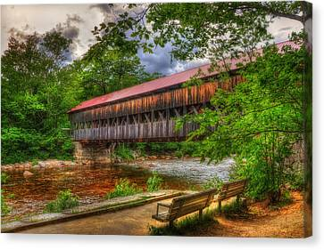 Albany Covered Bridge - White Mountains Nh Canvas Print