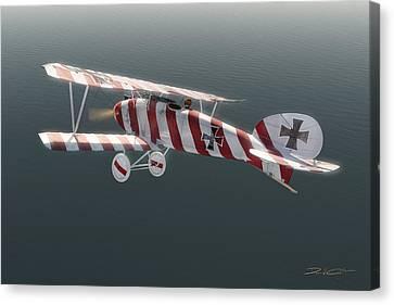 Albatros D.iii Of Jasta 11 Canvas Print by David Collins