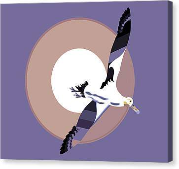 Albatross Soaring With Wings Spread Canvas Print by Richard Gage