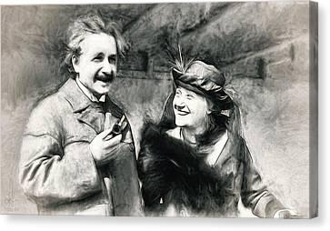 Albert And Elsa Einstein  Canvas Print