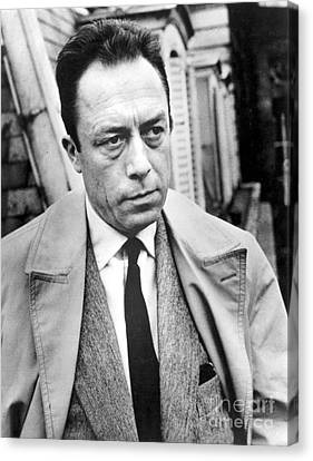 Trenches Canvas Print - Albert Camus (1913-1960) by Granger