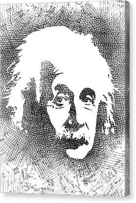 Albert Einstein Bw  Canvas Print by Mihaela Pater