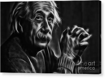 Albert Einstein Collection Canvas Print