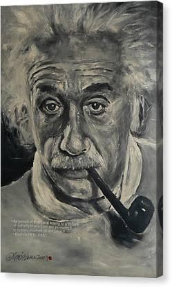 Albert Einstein Canvas Print by Eddie Lim