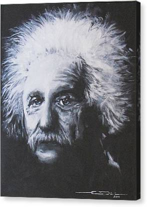 Albert Einstein Canvas Print by Eric Dee