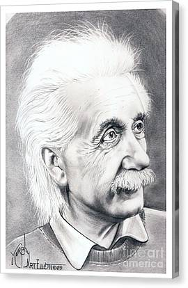 Albert Einstein  Canvas Print by Murphy Elliott