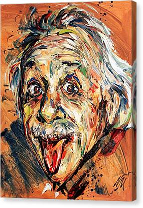 Albert Einstein Canvas Print by Natasha  Mylius