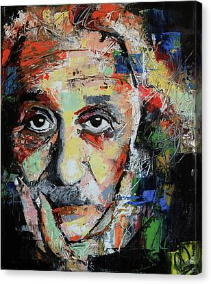 Albert Einstein Canvas Print by Richard Day