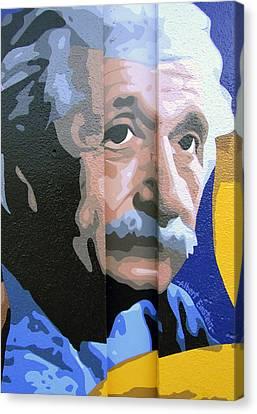 Albert Einstein Canvas Print by Roberto Valdes Sanchez
