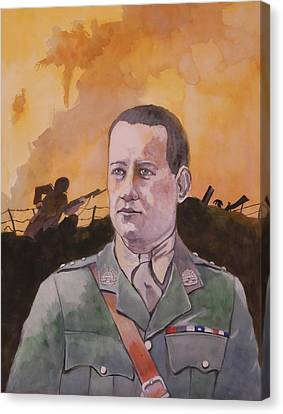 Canvas Print featuring the painting Albert Jaka Vc by Ray Agius