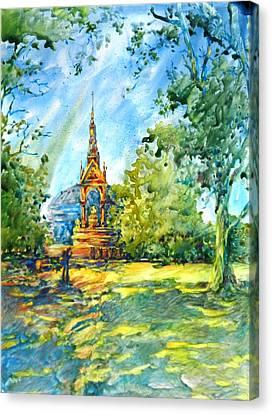 Albert Memorial Canvas Print by Virgil Carter