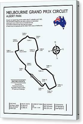 Albert Park Lake Circuit Canvas Print by Mark Rogan