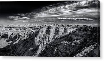 Canvas Print featuring the photograph Alberta Badlands by Wayne Sherriff