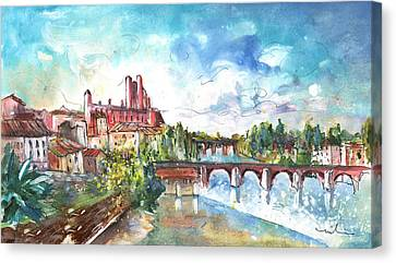 South Of France Canvas Print - Albi Panoramic View by Miki De Goodaboom