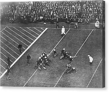 Soldier Field Canvas Print - Albie Booth Kick Beats Harvard by Underwood Archives