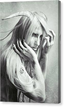 Albino Demon Canvas Print by Cambion Art