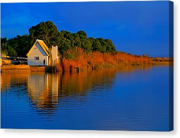 Albufera Blue. Valencia. Spain Canvas Print