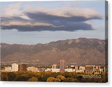 Albuquerque Skyline With The Sandia Mountains In The Background Canvas Print