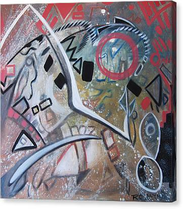 Albuquerque Two Canvas Print by Rosalyn Stevenson
