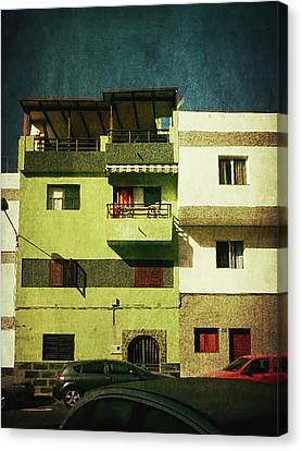 Canvas Print featuring the photograph Alcala, Another Green House by Anne Kotan