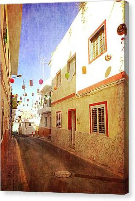 Canvas Print featuring the photograph Alcala Fiesta Street by Anne Kotan
