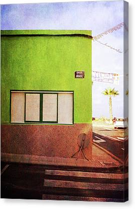 Canvas Print featuring the photograph Alcala Green Corner by Anne Kotan