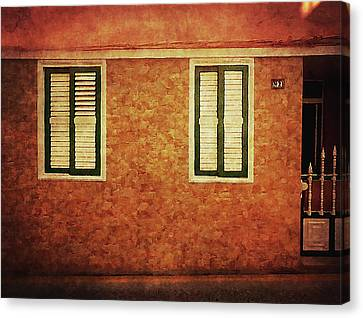 Canvas Print featuring the photograph Alcala, Orange House by Anne Kotan