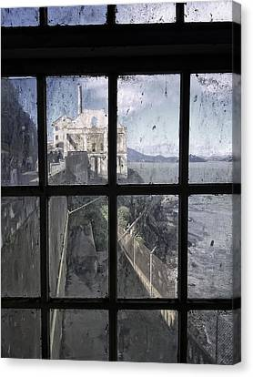 Alcatraz Escape Beach From Guard House Canvas Print