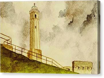 Alcatraz Canvas Print - Alcatraz Island Lighthouse by Michael Vigliotti