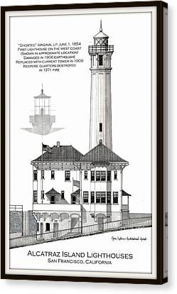Alcatraz Island Lighthouses Canvas Print