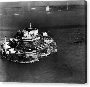 Alcatraz Island, San Francisco, While Canvas Print by Everett