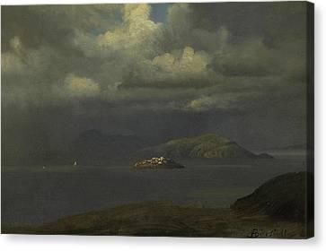 Alcatraz, San Francisco Bay Canvas Print by Albert Bierstadt