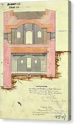 Alcatraz South Capniere Drawing 1856 Canvas Print