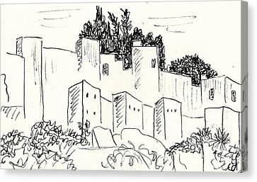 Alcazaba In Malaga Canvas Print