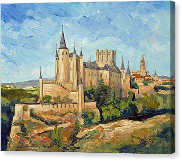 Alcazar In Segovia Canvas Print by Irek Szelag