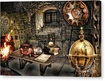 Alchemist Chamber Canvas Print by Mo T