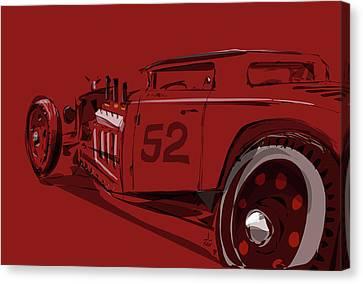 Alchemy Red Canvas Print by Jeremy Lacy