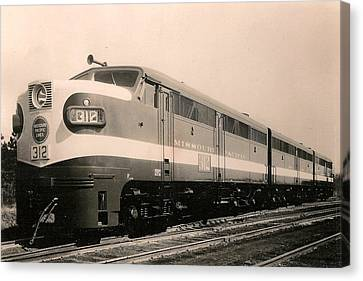 Alcoa Ge Freight Locomotive Canvas Print by Lawrence Christopher