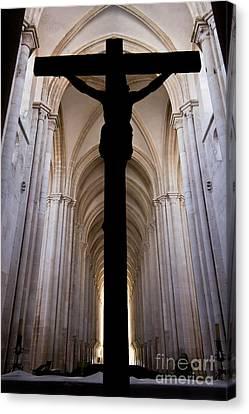 Alcobaca Monastery Church Crucifix Canvas Print