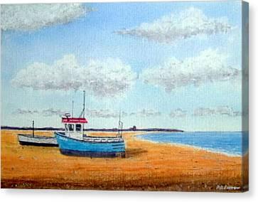 Aldeburgh Beach, Suffolk - Sold Canvas Print by Peter Farrow
