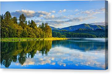 Alder Lake Reflection Canvas Print