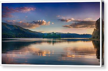 Alder Lake Sunset Canvas Print
