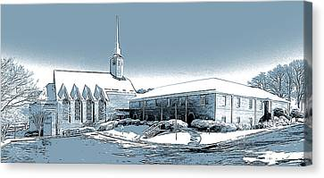 Aldersgate Umc Canvas Print by Greg Joens